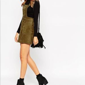 REAL Suede Overall Jumper Dress